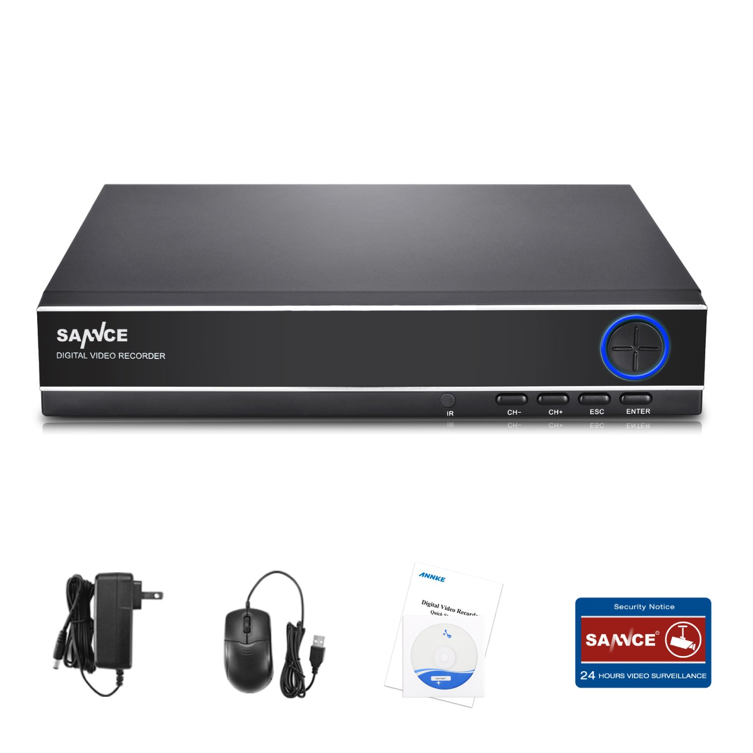 SANNCE 4-Channel HD 1080N Home Video Security Surveillance System DVR Recorder-NO HDD