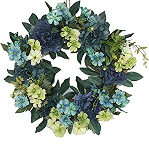 Beautiful Wreaths | Blended Hydrangea Wreath | Summer Wreaths | Front Door Wreaths | Fall Wreath | Outdoor Wreaths | Summer Wreath 118
