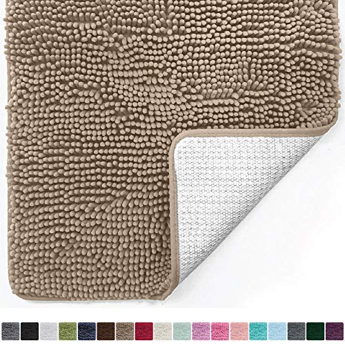 Gorilla Grip Original Luxury Chenille Bathroom Rug Mat (30 x 20), Extra Soft and Absorbent Shaggy...