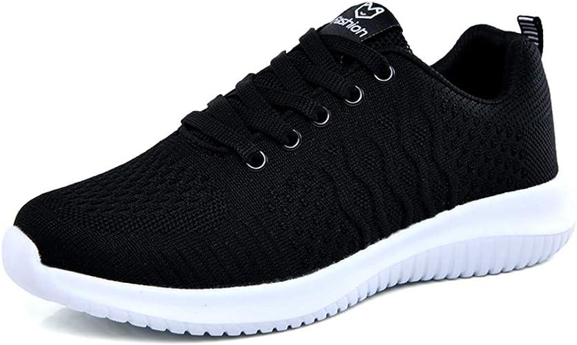 Zapatos Planos de Mujer con Plataforma Zapatillas de Deporte ...