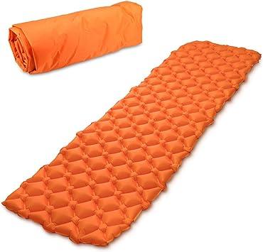 Navaris colchón Inflable con Estructura alveolada - Esterilla Hinchable para Camping en DIV. Colores - Colchoneta de Aire portátil para Dormir