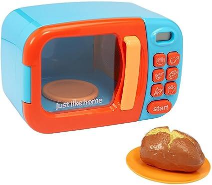 Amazon.com: Microondas de juguete azul con comida de juguete ...