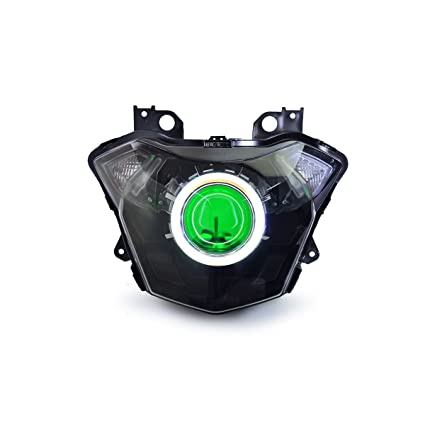 Tremendous Amazon Com Kt Led Angel Eye Headlight Assembly For Kawasaki Z650 Wiring Cloud Hisonuggs Outletorg