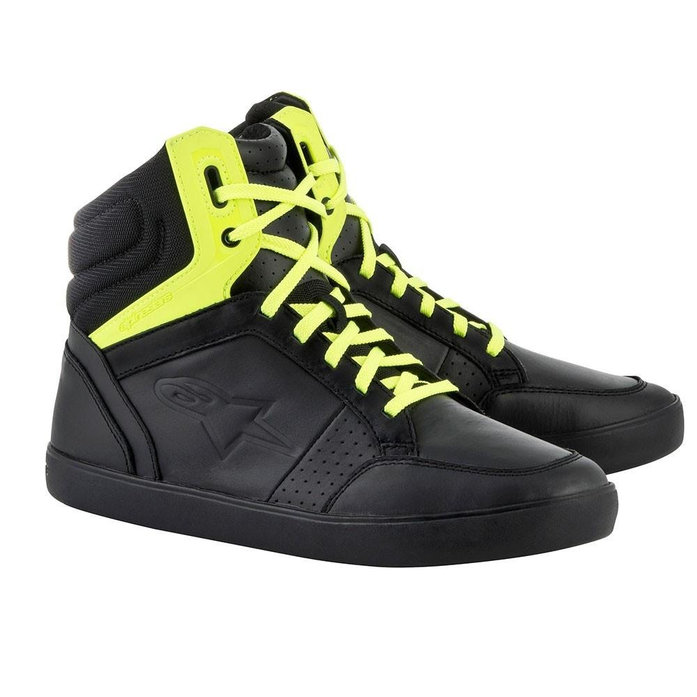 Alpinestars J-8 Men's Street Shoes - Black/Fluorescent Yellow / 12