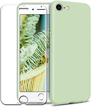 Funda iPhone 7/ iPhone 8 + Protector de Pantalla de Vidrio Templado, Carcasa Ultra Fino Suave Flexible Silicona Colores del Caramelo Protectora Caso Anti-rasguños Back Case: Amazon.es: Electrónica