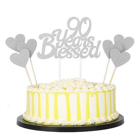 Amazon.com: PALASA - Juego de 7 adornos para tartas, diseño ...