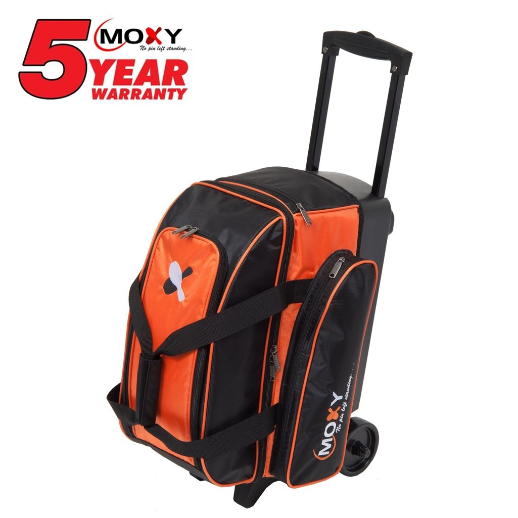 Moxy Bowling Products Double Roller Bowling Bag- Orange/Black by Moxy