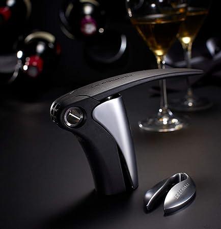 LE CREUSET LM150 Set de Regalo con sacacorchos de Palanca y cortacápsulas Extracción del tapón en Botella de Vino, Poliamida, Plateado, One Size
