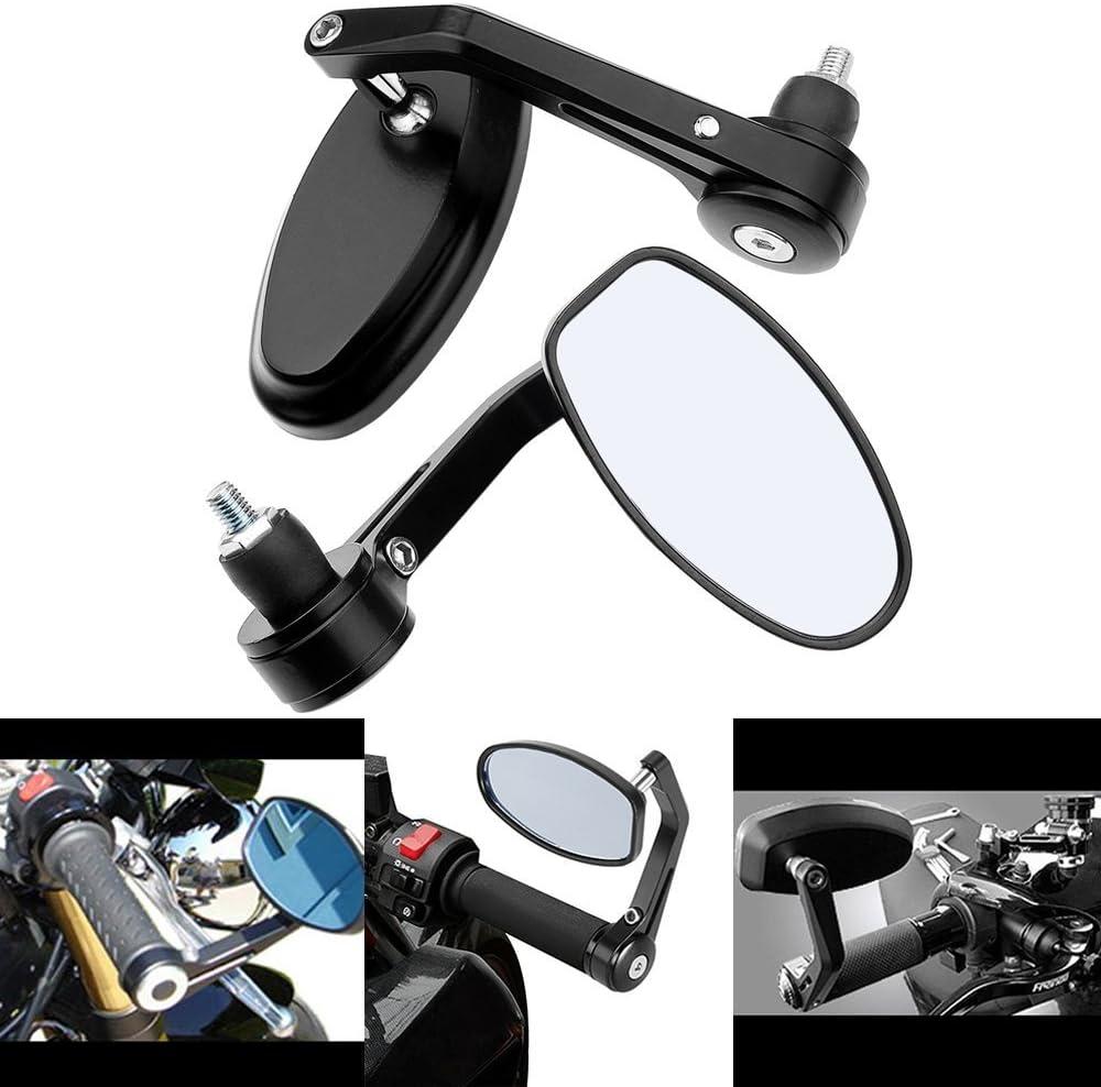OKSTNO 2X Adjustable Heavy Duty Motorcycle Street Bike Bar End Mirrors 7//8 for BMW Suzuki Yamaha Honda Kawasaki Buell Ducati