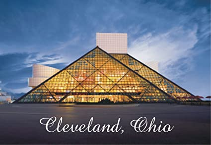 Cleveland, Ohio, City, OH, Rock and Roll Hall of Fame, Souvenir Magnet 2 x  3 Photo Fridge Magnet