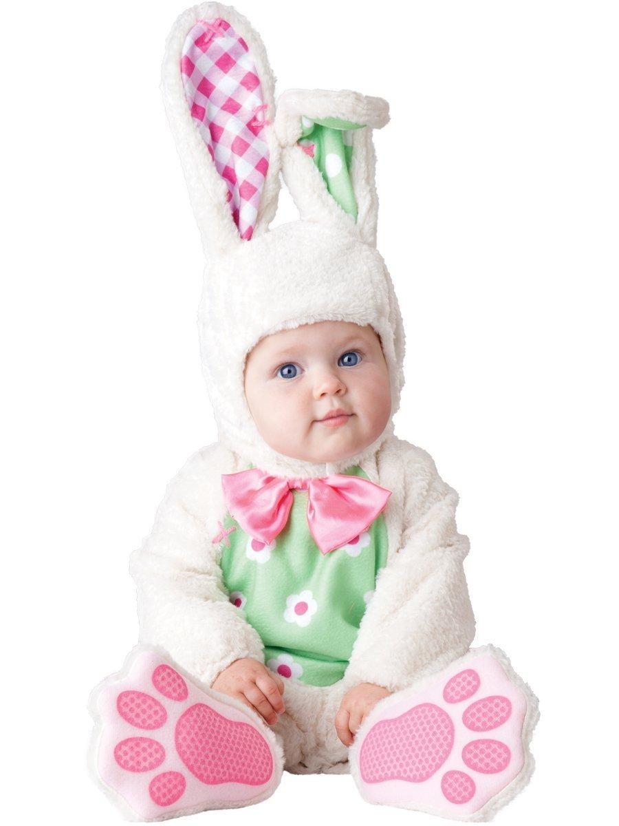 Deluxe per bambine, colore  bianco, coniglietto pasquale In Character-Costume di Halloween