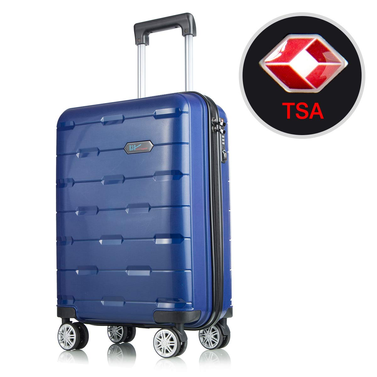 WELOVE Lightweight Luggage Sets Hardside Spinner Trolley Expandable Luggage Bag for Travel and Business Luggage Set 24'' (Royal Blue)