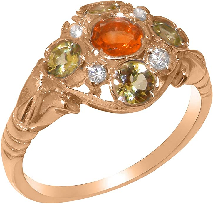 Details about  /Solid 10k Rose Gold Casual Ring with Natural Amethyst 2.56 Ct Gemstone