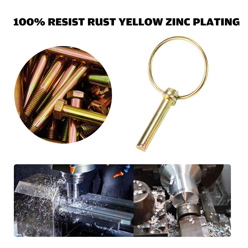Auto Hitch Pin Box 50 Piece Set with Storage Box Premium Lynch Pin Fastener Assortment Kit