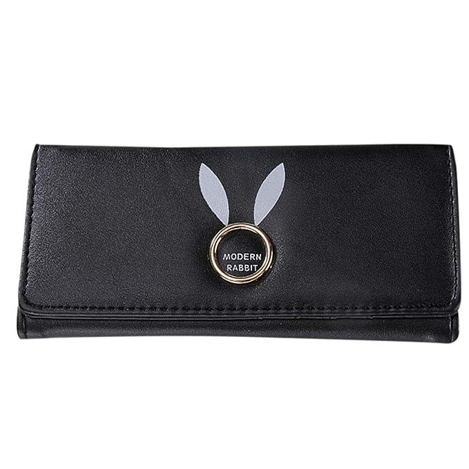 03a9e661d0f3 Amazon.com: HYSGM Women Wallet Fashion Printing Hasp Coin Purse Card Holders  Long Clutch Handbag (Black): Clothing