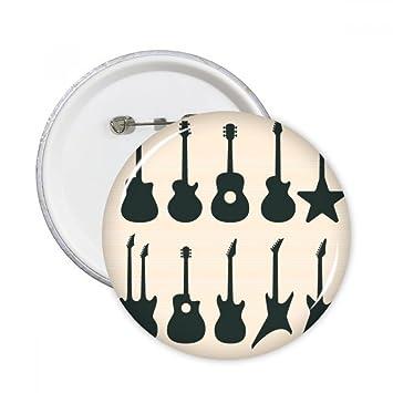 DIYthinker Guitarra eléctrica Música vitalidad Suena regalo Botón redondo botones Badge Ropa decoración 5pcs Multicolor S: Amazon.es: Oficina y papelería