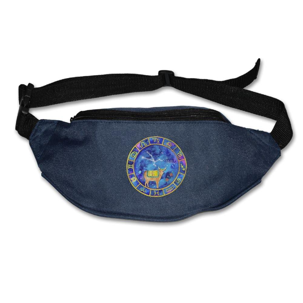 9a8aa377d8 ... Sport Waist Bags Black. 80%OFF Janeither Unisex Pockets Taurus  Constellation Zodiac Sign Lover Fanny Pack Waist Bum