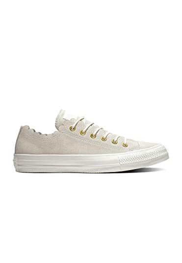 cad58200fac Amazon.com | Converse Chuck Taylor All Star Ox Frilly Thrills Egret Suede  Adult Trainers Shoes | Shoes