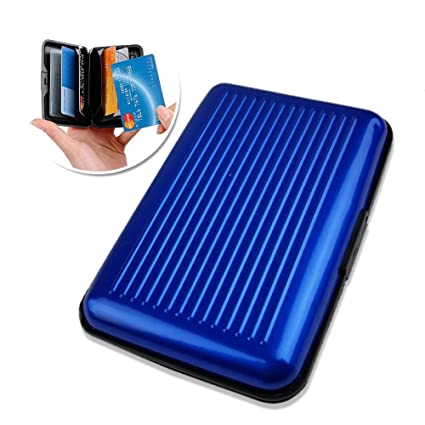 a71473e571af Aluminium Card Case | Aluminum PP RFID Blocking Credit Card Wallet Safe  Holder Electronic Scan Theft Protector | Slim Stylish Design | Lightweight  ...