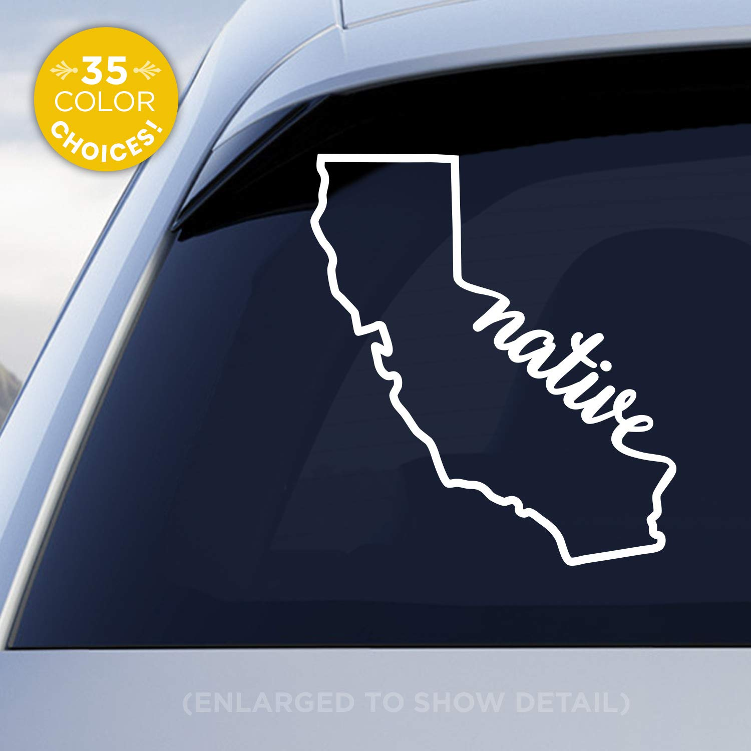 California state native decal ca native car vinyl sticker add a heart over los angeles san francisco san diego san jose handmade with outdoor