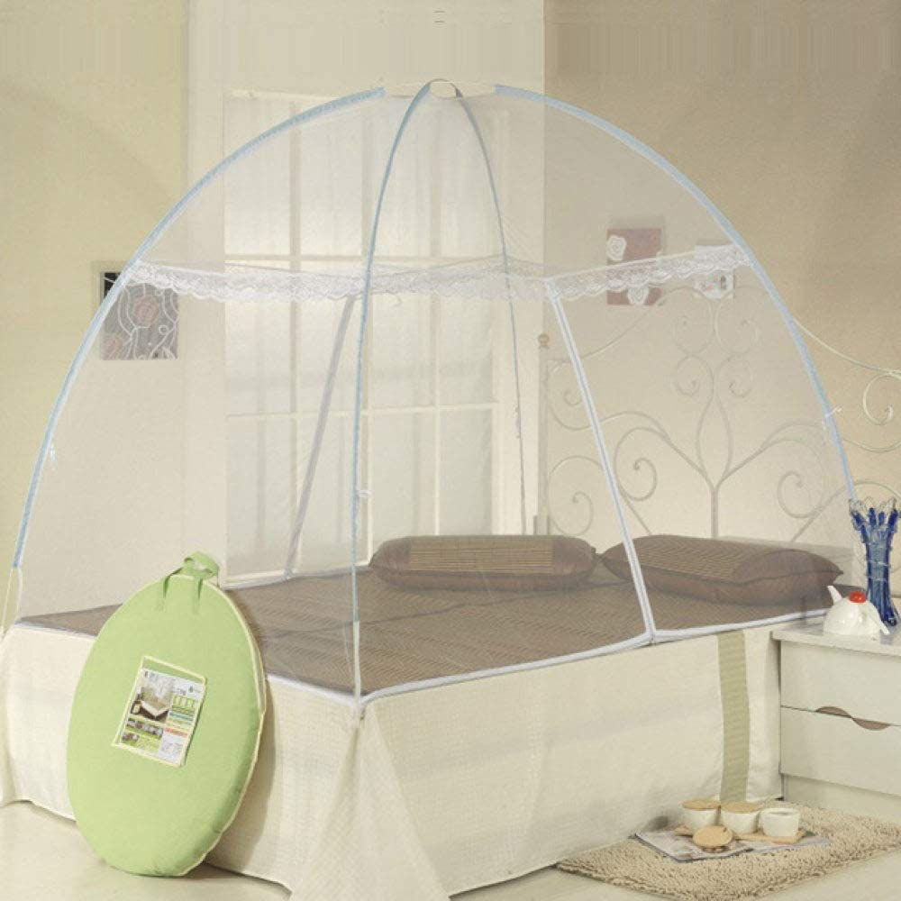 LJQLXJ Mosquitera High quality Foldable Automatic Installation Camping Mosquito Nets. magic Mosquito Nets,White,120x200cm