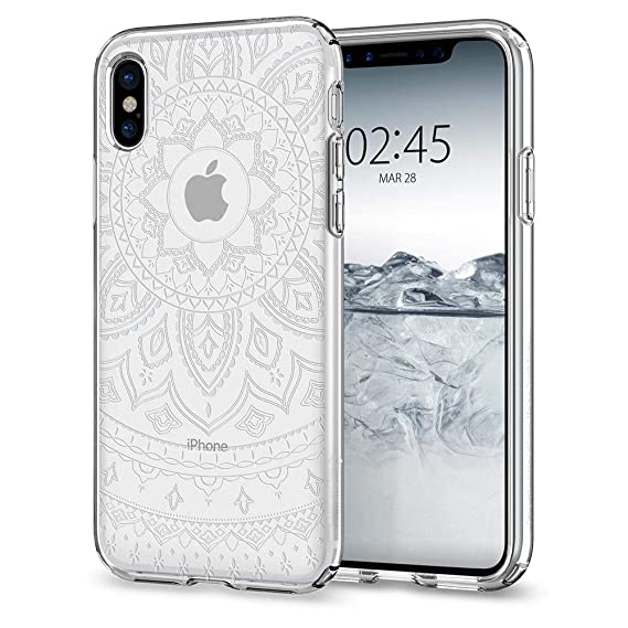 9998018ebbf4 Amazon.com  Spigen Liquid Crystal Designed for Apple iPhone Xs Case (2018)    Designed for Apple iPhone X Case (2017) - Shine Crystal Clear  Cell  Phones   ...