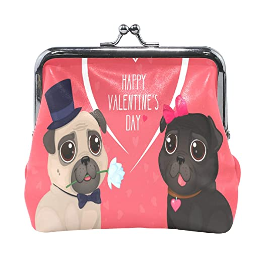 eb5c102f93 Coin Purse Valentine's Day With Cute Pug Womens Wallet Clutch Bag Girls  Small Purse at Amazon Women's Clothing store: