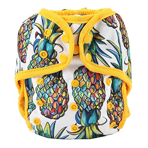 One Size Cloth Diaper Cover Snap with Double Gusset (Pineapple)