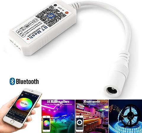 Bluetooth BT Mesh LED Music Controller RGBW Strip Light Smartphone APP Dimmer