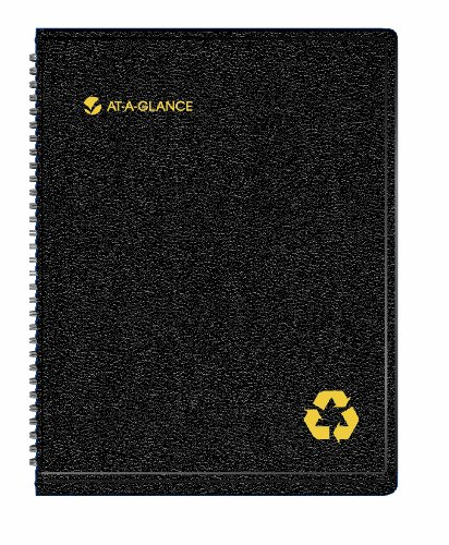 At-A-Glance Recycled Weekly Monthly Professional Appointment Book, Black (70950G05), Office Central