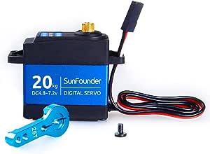SunFounder Digital Micro Servo Motor Helicopter Airplane Boat Robot Control 20kg Servo Motor