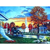 Hometown Thanksgiving 1000pc Jigsaw Puzzle by Keith Brown