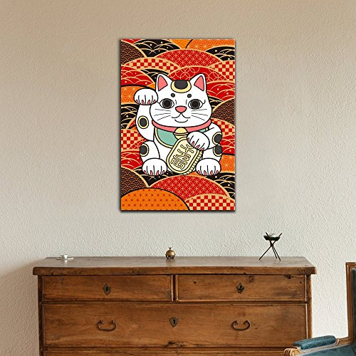 Japanese Fortune Cat Wall Decor