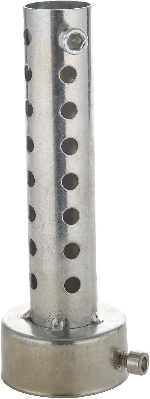 RETYLY Silver Pot D/échappement de Moto Peut Ins/érer Silencieux Baffle DB Killer Silencer 48Mm X 140Mm