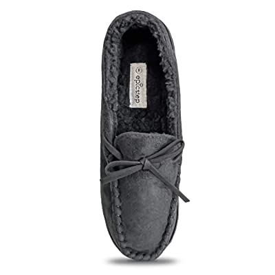 Women Moccasin Slippers, Warm Comfort Cozy Soft House Shoes with Fuzzy Plush Fur Lining, Casual Slip On Shoe Slipper with Indoor Outdoor Resistant Anti-Skid Rubber Sole | Slippers