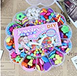 DIY Bead set Accessories Girl Toys Mixed Kids Beads with Box Correct amblyopia Toy