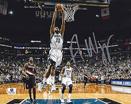 size 40 c7820 41bc8 AUTOGRAPHED Andrew Wiggins #22 Minnesota Timberwolves Team ...