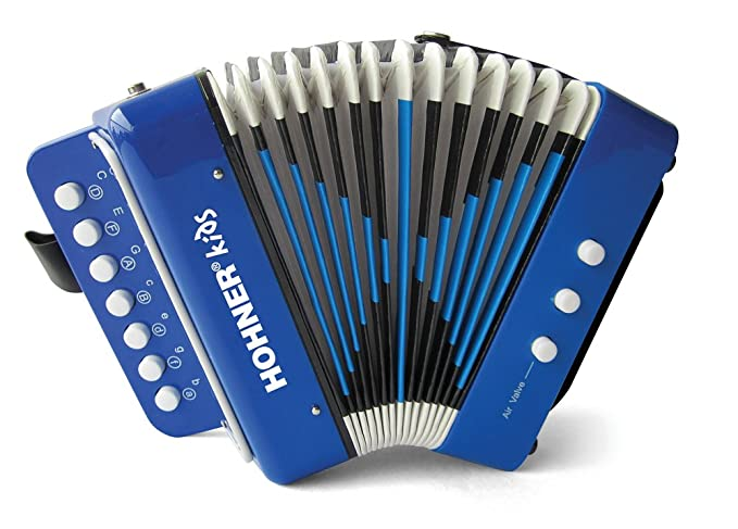 Hohner UC102B Toy Accordion Blue Retail Box Includes ...