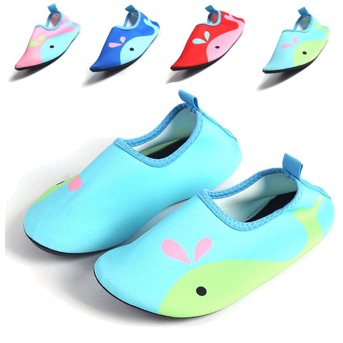 J&T Zapatos para Niño Zapatos de Agua de Natación Niños Zapatos de Niños Descalzo Barefoot Aqua Calcetines para la Piscina de Playa Surf Yoga Unisex-Niños Niños Niñas Adolescentes AK-MLL