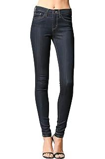 Flying Monkey Ink Dark Blue Regular Rise Dark Wash Super Soft Skinny Jeans L9219