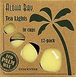 Aloha Bay - 100% Vegetable Palm Wax Tea Light Candles Unscented White