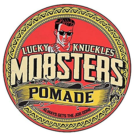 Mobsters Hair Pomade Regular Hold Water Based Deluxe Matte Finish Hair Wax Pro Salon Use Large 140g Tin Lucky Knuckles Edition (Lucky Knuckles) Belle Life Limited