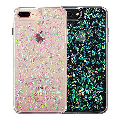(Velvet Caviar for Cute iPhone 8 Plus Case & iPhone 7 Plus Case Glitter Iridescent Holographic for Women & Girls - Protective Phone Cases [Drop Test Certified] - Sparkle Opal)