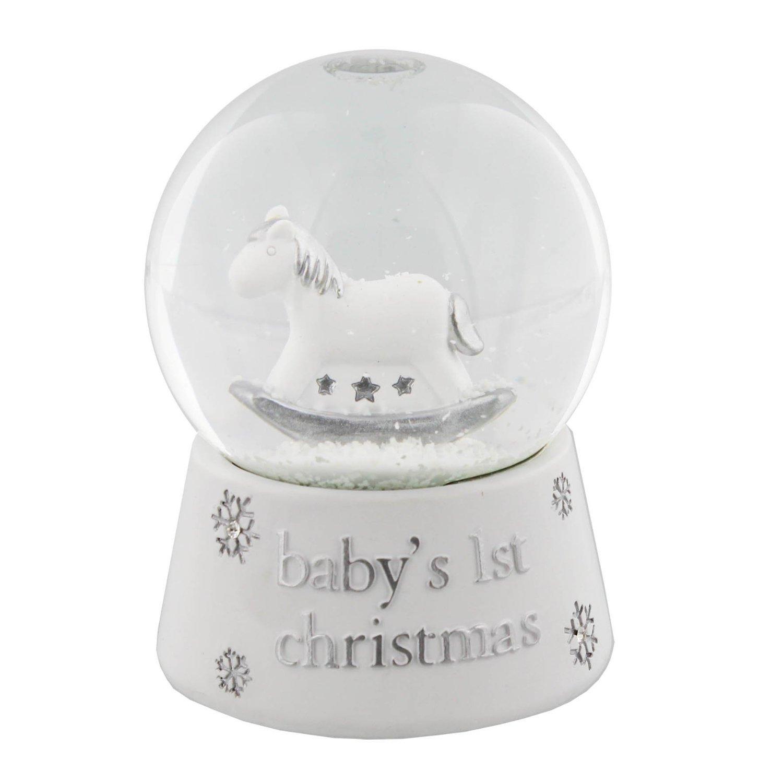 Bambino Resin Snow Globe Waterball ''Baby's 1st Christmas Widdop & Bingham