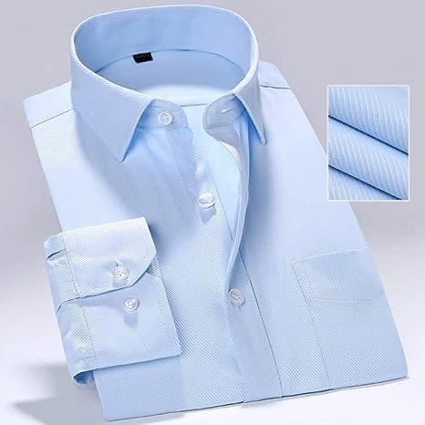 YAYLMKNA Camisa Hombre Camisa De Manga Larga Caballero Formal Twill Sólido Hombre Ajuste Negocio Camisa De Vestir Hombre, S: Amazon.es: Deportes y aire libre