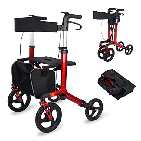 HZYWL Medical Rollator Walker 4 Ruedas Walker Rollator Silla De ...