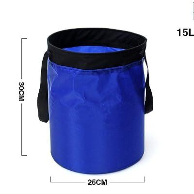Holzsammlung® Seau Pliable Sac à Eau Portable pour Camping Pique-nique Caravane ou Plage (15L)