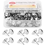 Yalis Thumb Tacks 500-count, 3/8-inch Steel Roundness Push Pins Office Tacks for Corkboard (Silver)