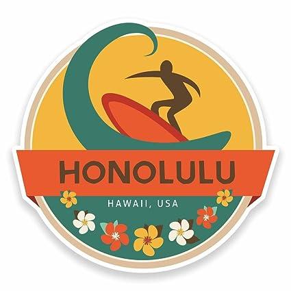 2 x 30cm 300mm honolulu hawaii usa vinyl self adhesive sticker decal laptop car travel
