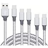 USB C Cable,5Pack (3/3/6/6/10FT) Nylon Braided Fast Charging Cable Aluminum Compatible with S10 S9 Note 9 8 S8 Plus,V30…